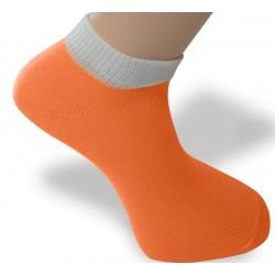 Cyklo ponožka oranžovo-bílá