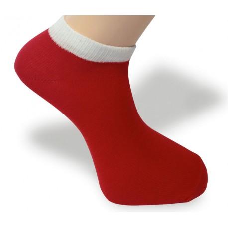 Cyklo ponožka červeno-bílá