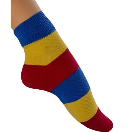 Zkrácená pruhovaná ponožka Sparta
