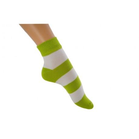 Zkrácená pruhovaná ponožka Bohemka