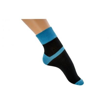 Zkrácená ponožka duo modrá