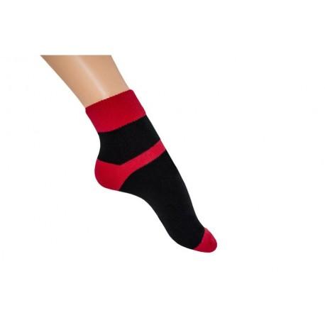 Zkrácená ponožka duo červená