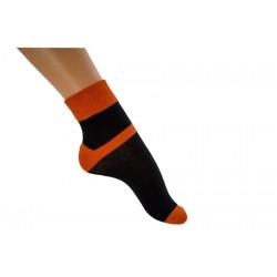Zkrácená ponožka duo černooranžová
