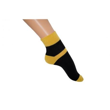 Zkrácená ponožka duo černožlutá
