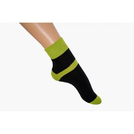 Zkrácená ponožka duo černozelená